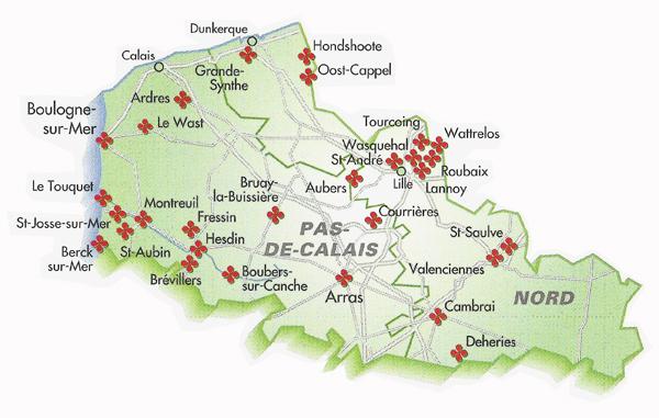 Nord Pas De Calais Carte Ville